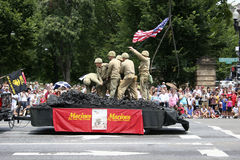 Independence Day Parade. In Constitution Avenue in Washington DC Stock Image