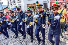 Independence Day parade, Antigua, Guatemala Royalty Free Stock Images