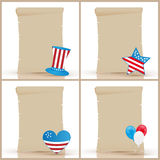 Independence day parchments Stock Photo