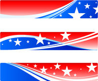Independence Day patriotic banners Stock Photography