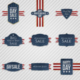 Independence Day patriotic Banners Set Royalty Free Stock Images