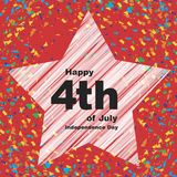 Independence Day. A postcard to the day of independence. Vector format Royalty Free Stock Photography