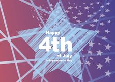 Independence Day. A postcard to the day of independence. Vector format Stock Photography