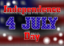 Independence day poster Royalty Free Stock Photo