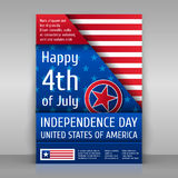Independence day poster. Royalty Free Stock Photos