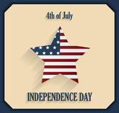 Independence Day poster. 4th of July Stock Photography