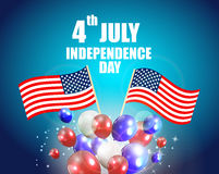Independence Day Poster Vector Illustration Stock Photo