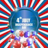 Independence Day Poster Vector Illustration Royalty Free Stock Images