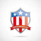 Independence Day Protectio Shield Flag Stock Photo