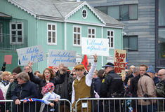 Independence day protesters, Reykjavik royalty free stock photos