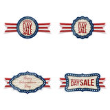 Independence Day realistic Badges Set. Vector Illustration Stock Images