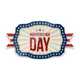 Independence Day realistic festive Tag. Vector Illustration Stock Image