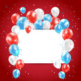 Independence day red background Royalty Free Stock Photo