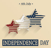 Independence Day. Red, white and blue stars. Vector illustration stock illustration