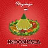 Independence Day of the Republic of Indonesia on 17th August. Dirgahayu is greeting to the republic of Indonesia on 17 August. Independence Day of the Republic royalty free illustration