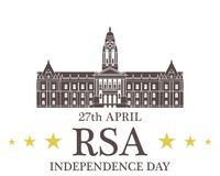 Independence Day. Republic of South Africa Royalty Free Stock Photo