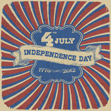 Independence Day Retro Background Stock Photos
