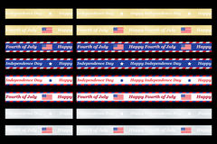 Independence Day ribbons. Set of seamless Independence Day ribbons Royalty Free Stock Photo