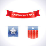 Independence Day Ribbons Royalty Free Stock Photography