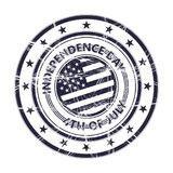 Independence Day rubber stamp Royalty Free Stock Photos