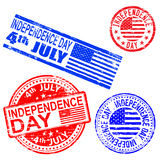 Independence Day Rubber Stamps Royalty Free Stock Images