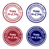 Independence day rubber stamps Stock Image