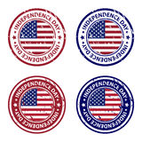 Independence day rubber stamps vector illustration