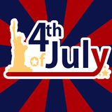 Independence Day's 4th July. Card Stock Photography