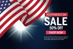 Independence Day Sale Vector Ad graphic. Independence Day Sale vector graphic with discount and type template . Good for greeting cards or displays Vector Illustration