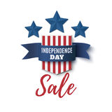 Independence Day, sale background. 4th of July. Independence Day, sale background. 4th of July template for poster, brochure, flyer or greeting card. Badge with stock illustration