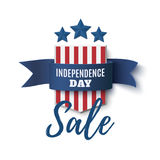 Independence Day sale background, 4th of July template. Stock Photos