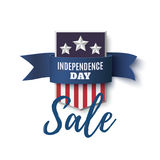 Independence Day sale background, 4th of July template. Stock Image