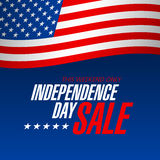 Independence Day Sale banner Royalty Free Stock Image