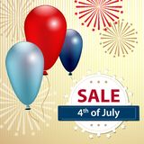 Independence day sale banner, 4 th of July. Vector stock illustration
