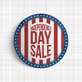 Independence Day Sale circle realistic Banner Stock Photos