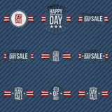 Independence Day Sale patriotic Elements Set Stock Image
