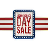 Independence Day Sale patriotic greeting Card Stock Photo
