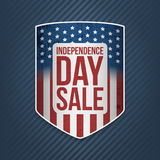 Independence Day Sale USA realistic Banner Royalty Free Stock Photos