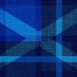 Independence Day of Scotland. 24 June. Scottish blue tartan. Silhouette of the Scottish flag - white cross. Independence Day of Scotland. 24 June. Concept of a Royalty Free Stock Images