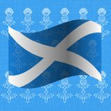 Independence Day of Scotland. 24 June. Flag of Scotland. Grunge background with drawings of a thistle. Independence Day of Scotland. 24 June. Concept of a Royalty Free Stock Photo