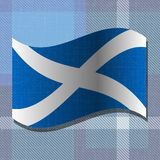 Independence Day of Scotland. 24 June. Flag of Scotland. Independence Day of Scotland. 24 June. Concept of a national holiday. Flag of Scotland. White cross on Royalty Free Stock Photography