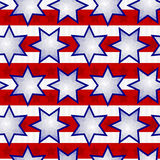 Independence Day Seamless Background Tile. Seamless Fourth of July Faceted Star Background Tile Stock Photo