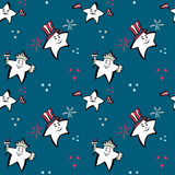 Independence Day seamless pattern. Independence Day  seamless pattern, blue back Royalty Free Stock Photos
