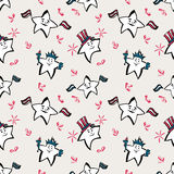 Independence Day seamless pattern. With stars Vector Illustration
