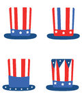 Independence day,set hats Royalty Free Stock Images