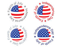 Independence day signs. Illustration Stock Images