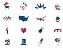 Independence day simply icons. Independence day simply symbol for web icons and user interface Stock Photos