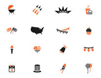 Independence day simply icons. Independence day simply symbols for web icons Stock Photos