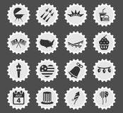Independence day simply icons. Independence day simply symbols for web icons Royalty Free Stock Image