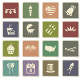 Independence day simply icons. Independence day  vector icons for web sites and user interface Royalty Free Stock Photos